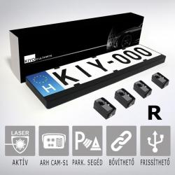KIYO D Ultimate 4R rendszámtábla aktív lézeres jelzőkészülék 4 szenzorral