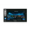 Alpine, IVE-W585BT 2DIN média központ magyar menüvel RDS DAB DAB+ Bluetooth Ipod / Iphone CD DVD USB