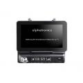 Alphatronics RS-10S FM-RDS autórádió motoros táblagép/okostelefon tartóval