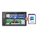 Macrom M-DL5000 2 DIN multimédia, fejegység SD / USB / Bluetooth / NAVIGÁCIÓ + iGo Primo 2