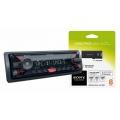 Sony DSX-A400BT autórádió, fejegység MP3 / USB / Bluetooth piros gomb