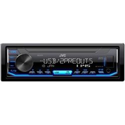 JVC KD-X176 Mechanika nélküli autórádió USB/AUX bemenettel, változtatható színû gombmegvilágítás és fehér kijelzõ