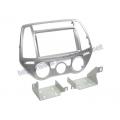 Hyundai i20 (PB) 2012-2014 2/1DIN Ezüst Autórádió beépítő keret