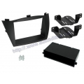 Hyundai ix35 2010-> 2/1DIN Fekete Autórádió beépítő keret