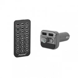 Peiying Autóhifi FM Transmitter és USB töltő Bluetooth kihangosítással URZ0463