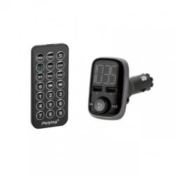 Peiying Autóhifi FM Transmitter és USB töltő Bluetooth kihangosítással URZ0465